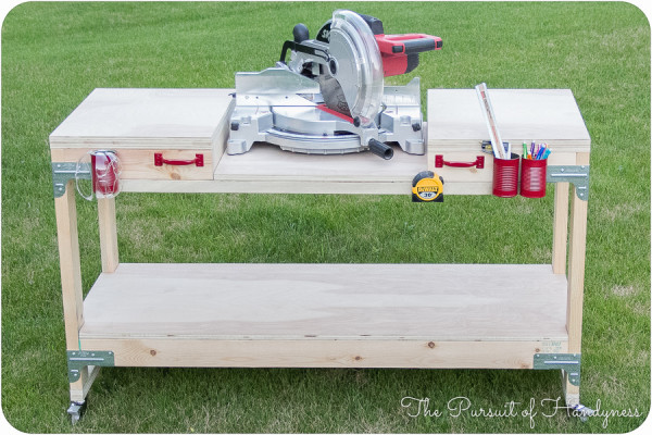 DIY Miter Saw Table  DreamItBuildIt Project DIY Miter Saw Stand DIY Done Right