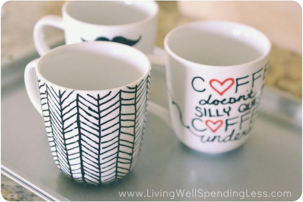 DIY Mug Designs  Easy DIY Sharpie Mugs Sharpie Mug Project