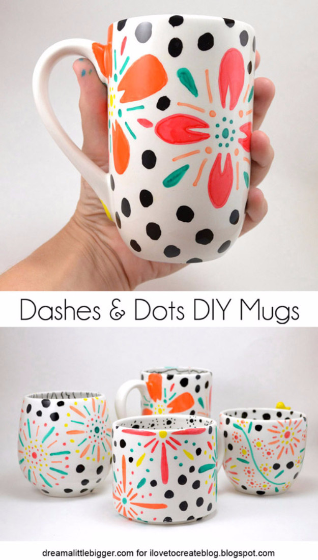 DIY Mug Designs  16 Amazing DIY Ideas From Old Dishes That You Can Easily Make