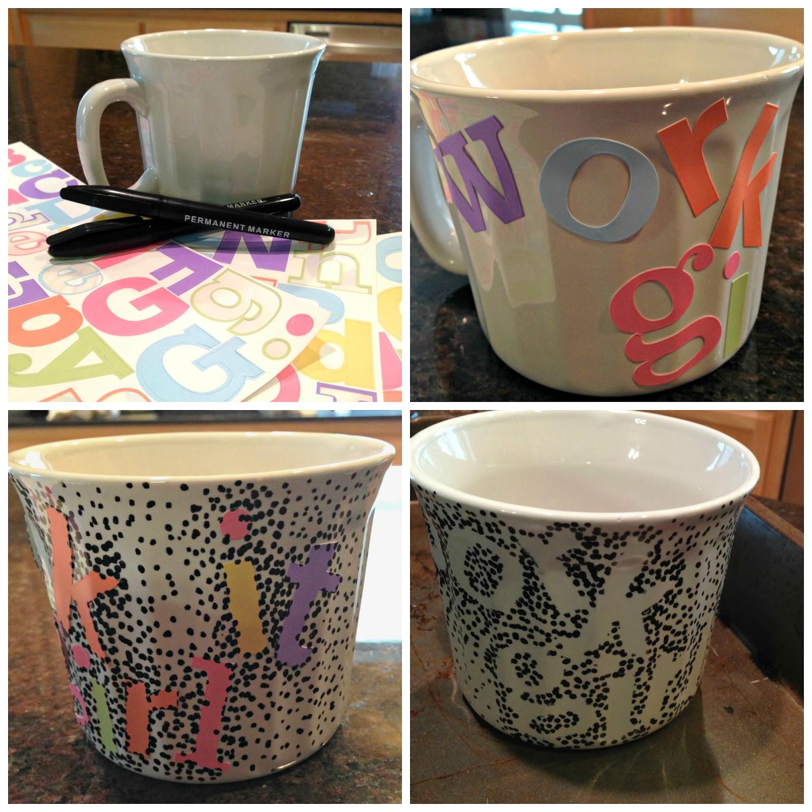 DIY Mug Designs  all things katie marie DIY Coffee Mug Design