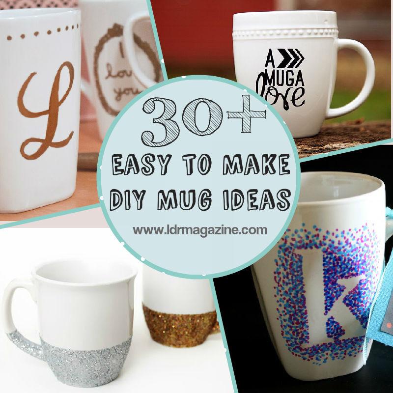 DIY Mug Designs  Coffee Mug Decoration İdeas – DIY Cute Ideas