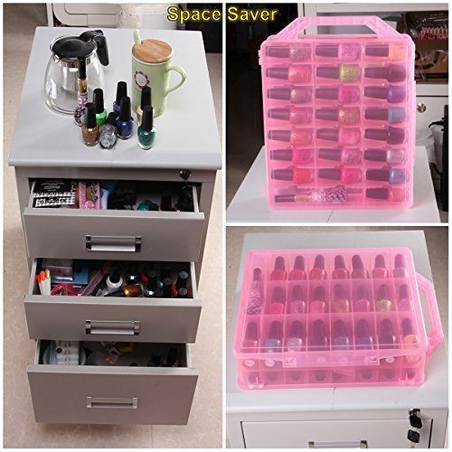 Best ideas about DIY Nail Polish Organization . Save or Pin 48 Bottles Organizer Nail Polish Holder Display Container Now.