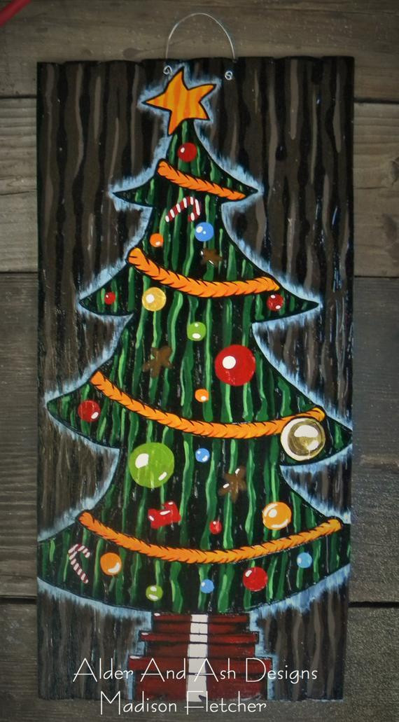 DIY Nightmare Before Christmas Decorations  Nightmare Before Christmas Inspired Christmas Tree Door