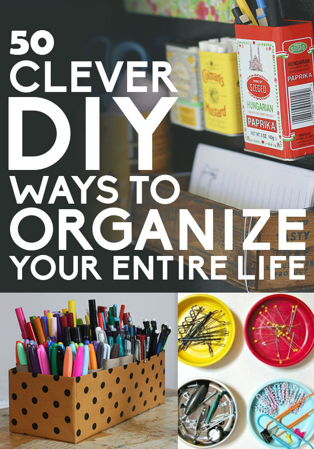 Best ideas about DIY Organization Tips . Save or Pin 50 DIY Storage and Organization Ideas Now.