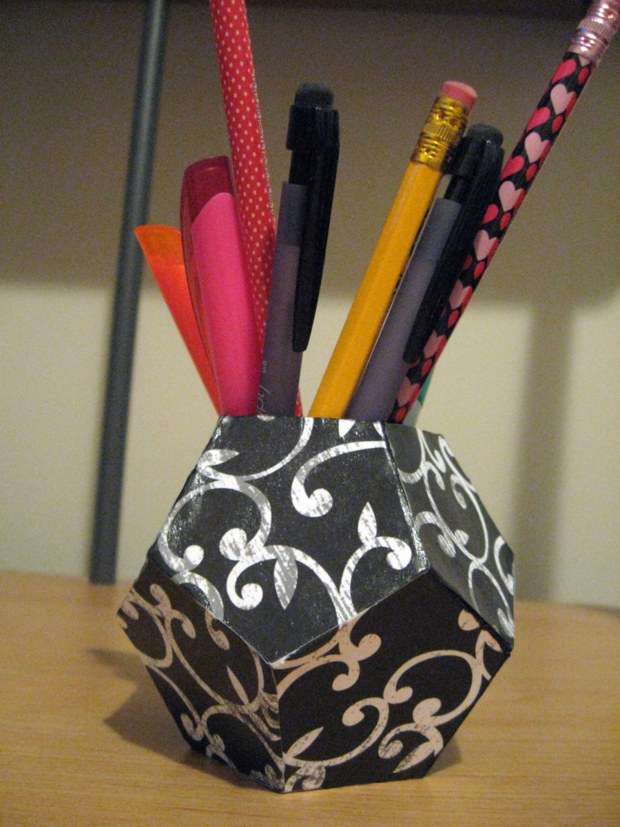 DIY Pen Organizer  DIY Geometric Pen Holder