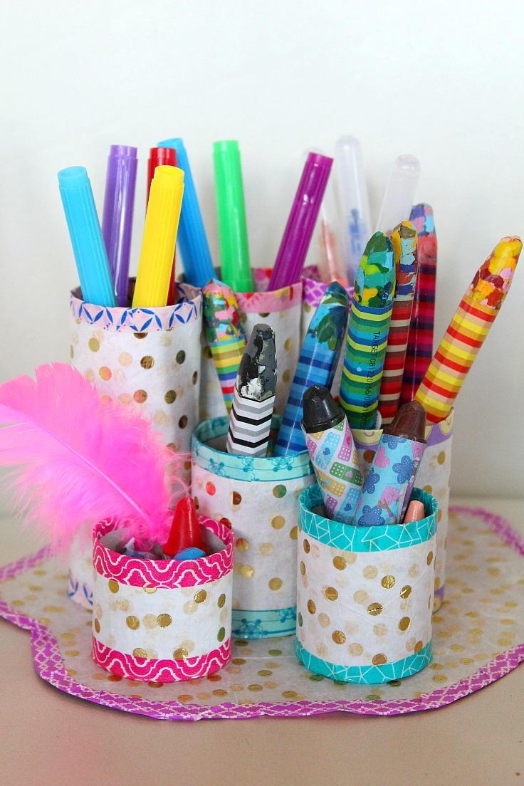 DIY Pen Organizer  Thrifty DIY Pencil Holder