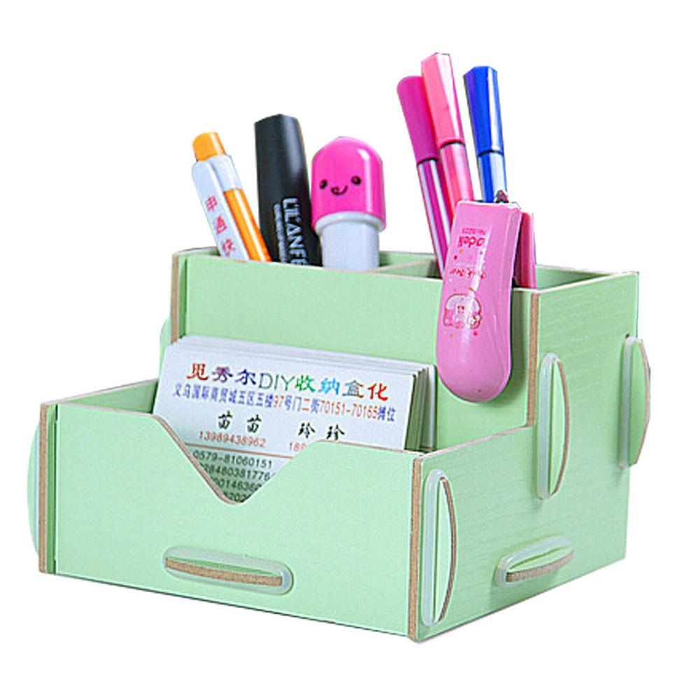 DIY Pen Organizer  Wooden Home fice DIY Desk Desktop Storage Organizer Pen