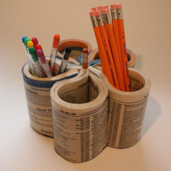 DIY Pen Organizer  15 DIY Ideas Make Your Own Pencil Holders
