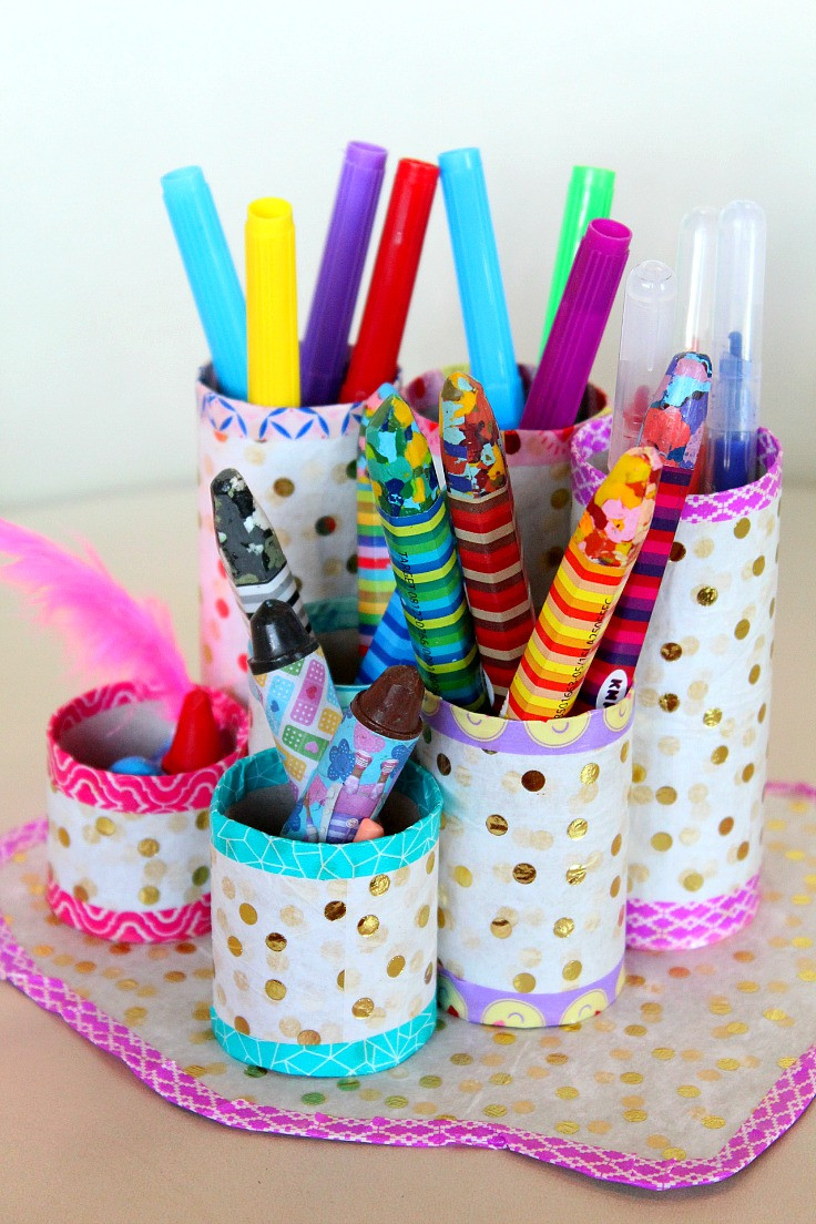 DIY Pen Organizer  DIY Pen Organizer Easy & Affordable With Recycled Materials