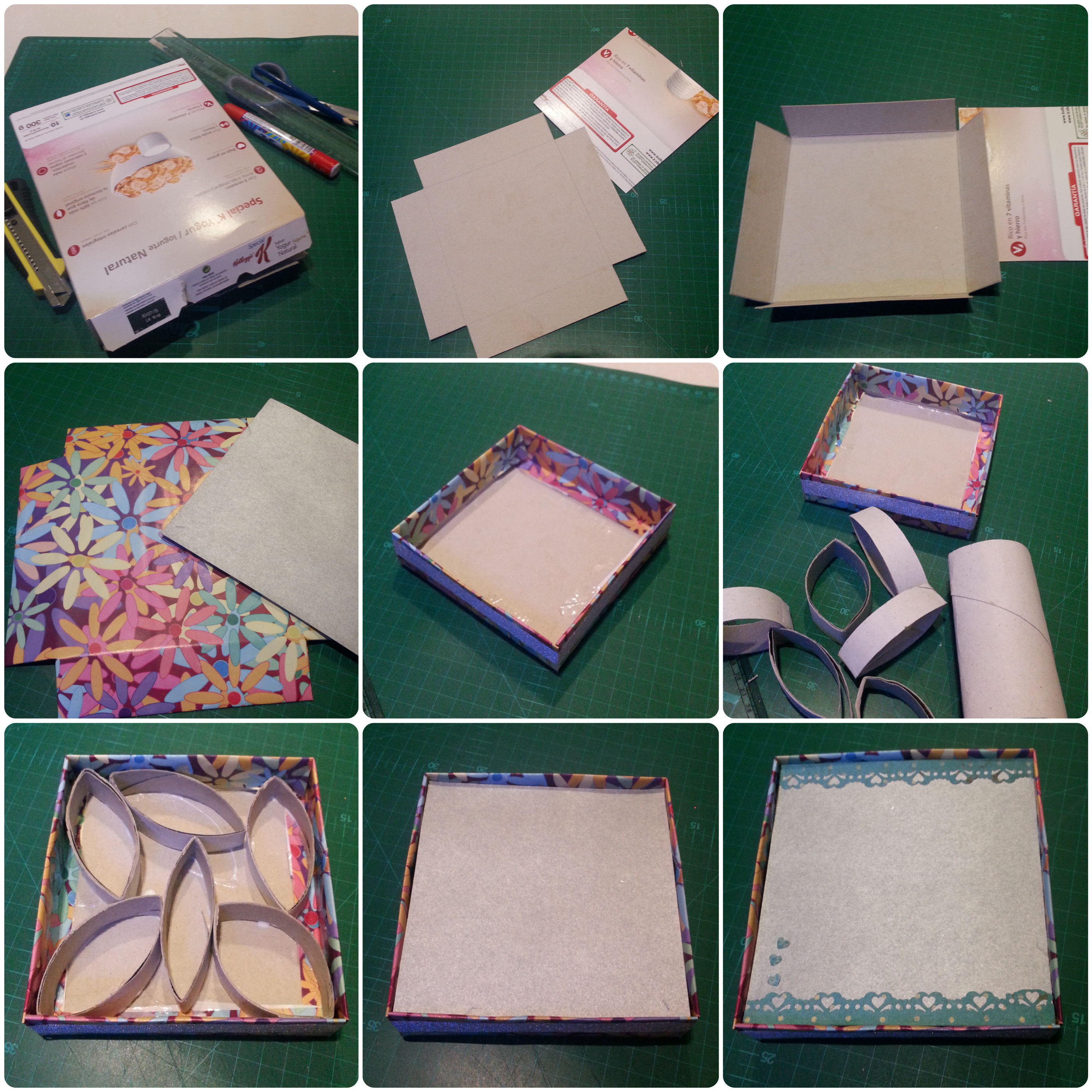 Best ideas about DIY Photo Box . Save or Pin DIY box photoframe from cereal box step by step Now.