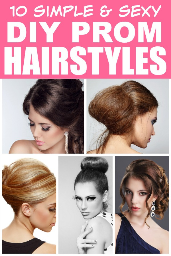 Best ideas about Diy Prom Hairstyles . Save or Pin 10 easy DIY prom hairstyles Now.