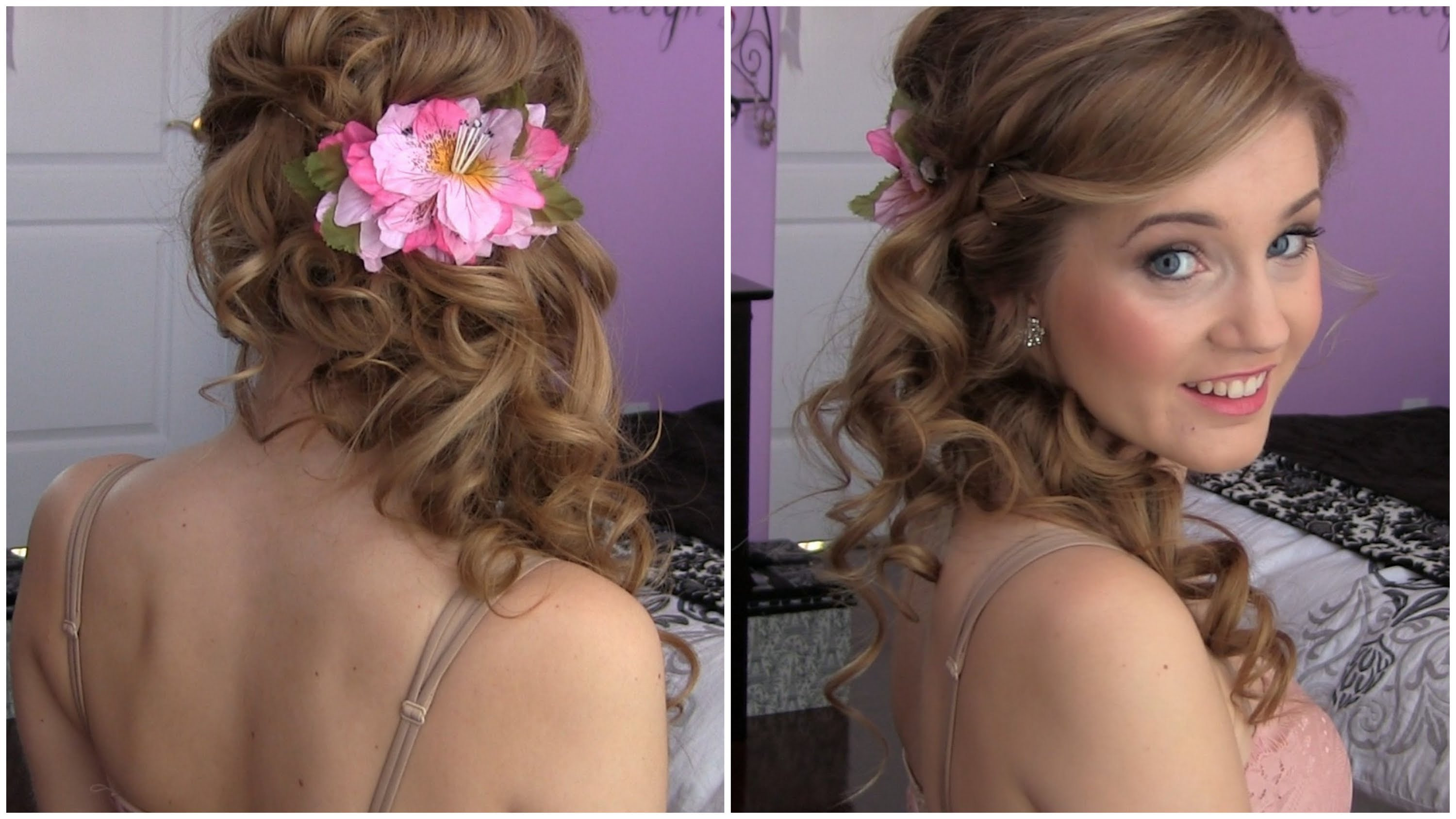 Best ideas about Diy Prom Hairstyles . Save or Pin Side Swept Cascading Curls – Easy DIY Prom HAIR TUTORIAL Now.