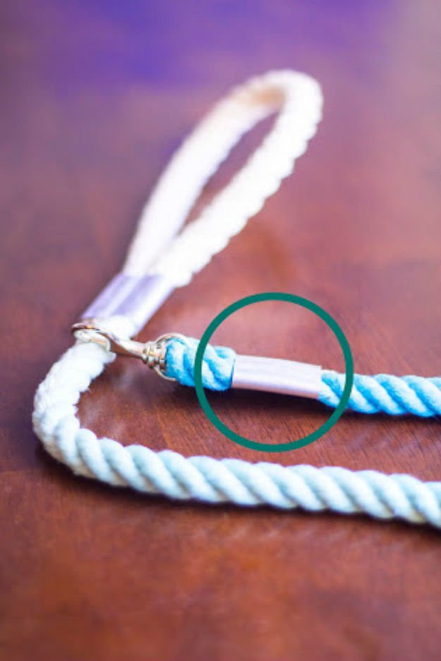 DIY Rope Dog Leash  Ombre Rope Dog Leash DIY Projects Craft Ideas & How To's