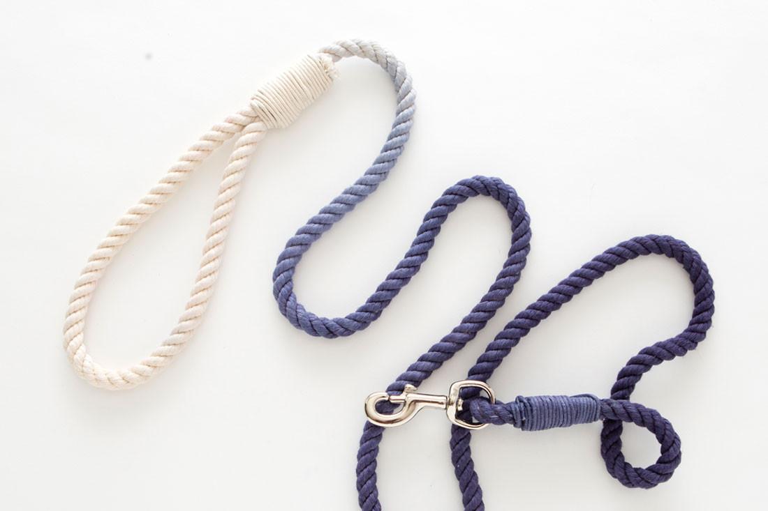 DIY Rope Dog Leash  Dog Milk DIY Dip Dyed Rope Leash Kit from Brit Co Dog