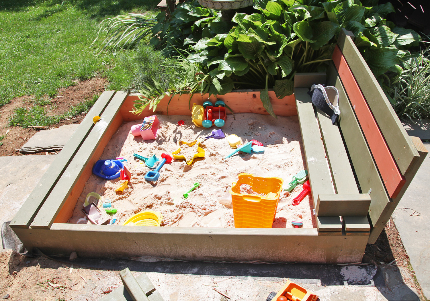 Best ideas about DIY Sandbox With Lid . Save or Pin DIY Sandbox with Lid & Benches Now.
