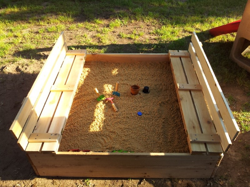 Best ideas about DIY Sandbox With Lid . Save or Pin DIY Sandbox with Cover Now.