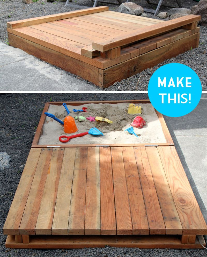Best ideas about DIY Sandbox With Lid . Save or Pin Make sandbox Now.