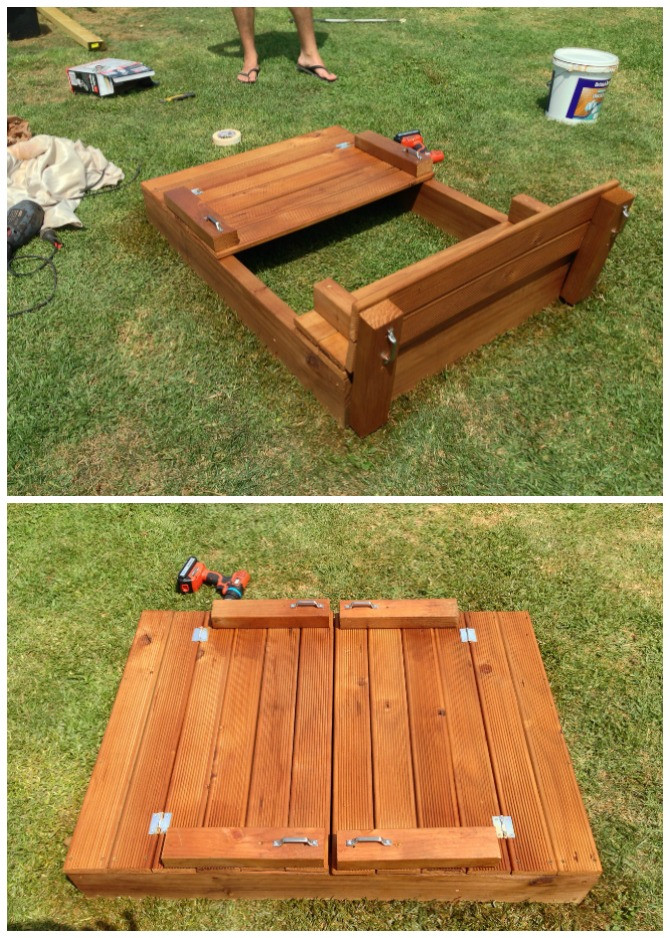 Best ideas about DIY Sandbox With Lid . Save or Pin DIY Sandbox Projects Picture Instructions Now.