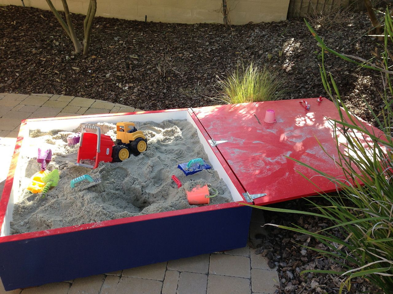 Best ideas about DIY Sandbox With Lid . Save or Pin DIY Sandbox with Lid ECE DIY Sandboxes Now.