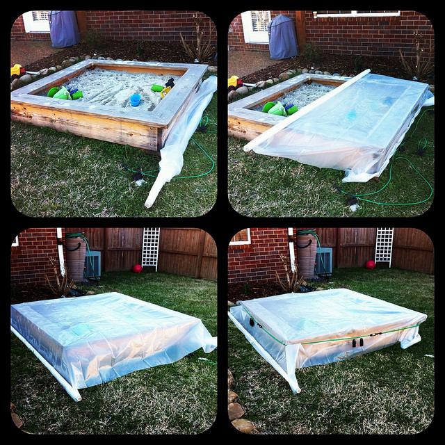 Best ideas about DIY Sandbox With Lid . Save or Pin DIY Sandbox Cover Now.
