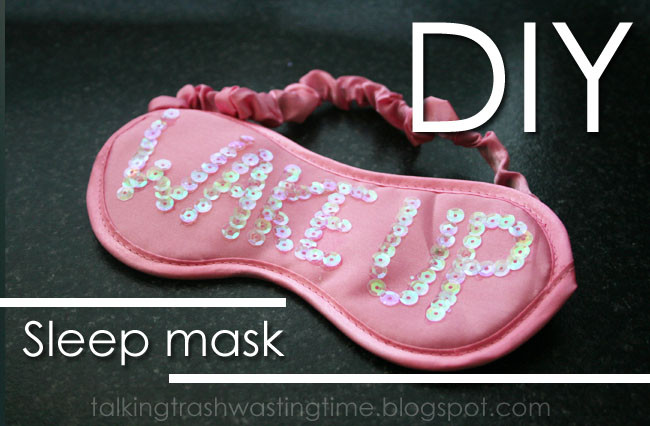 Best ideas about DIY Sleep Mask . Save or Pin DIY e Direction sleep mask Now.