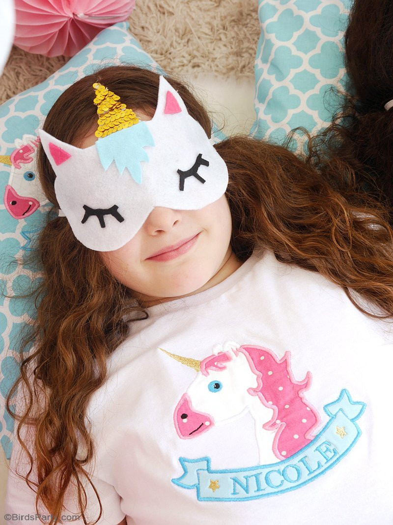 Best ideas about DIY Sleep Mask . Save or Pin No Sew DIY Unicorn Sleeping Masks with Free Template Now.