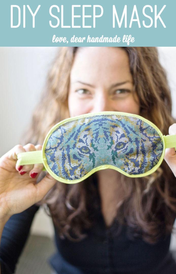 Best ideas about DIY Sleep Mask . Save or Pin DIY Sleep Mask Dear Handmade Life Now.
