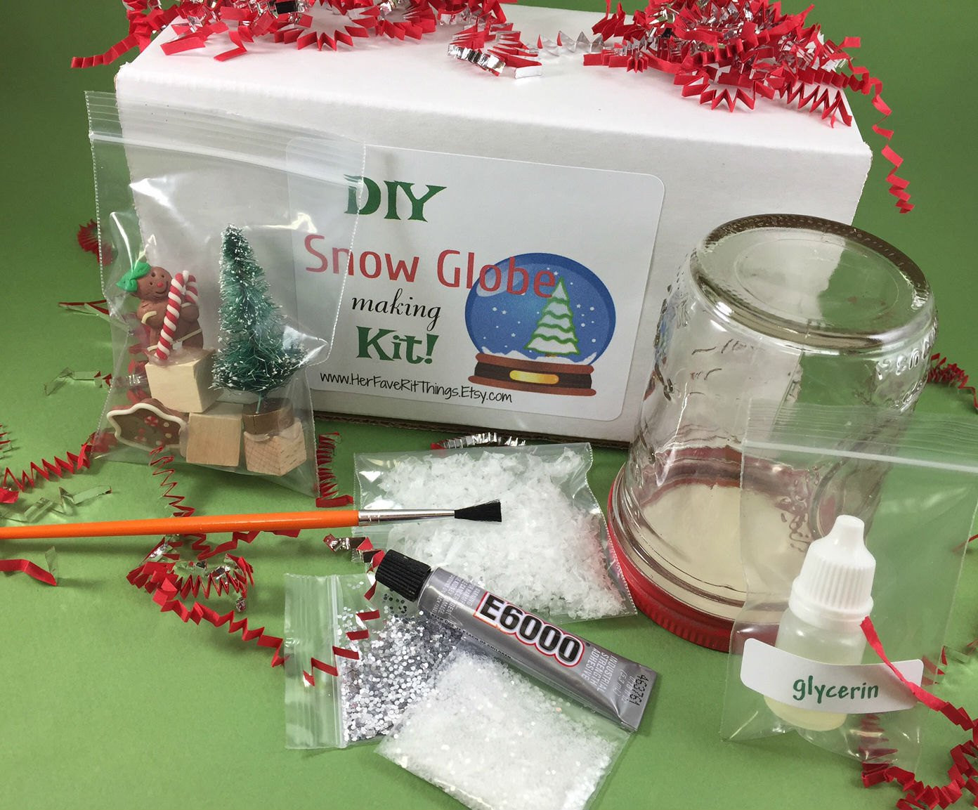 Best ideas about DIY Snowglobe Kit . Save or Pin DIY Holiday Snow Globe Kit snow globe craft kit holiday snow Now.