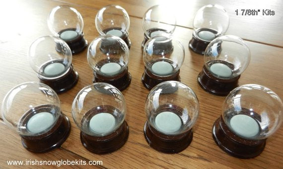 Best ideas about DIY Snowglobe Kit . Save or Pin Make your own DIY Tiny Snow globe kit 48mm Set of THREE Now.