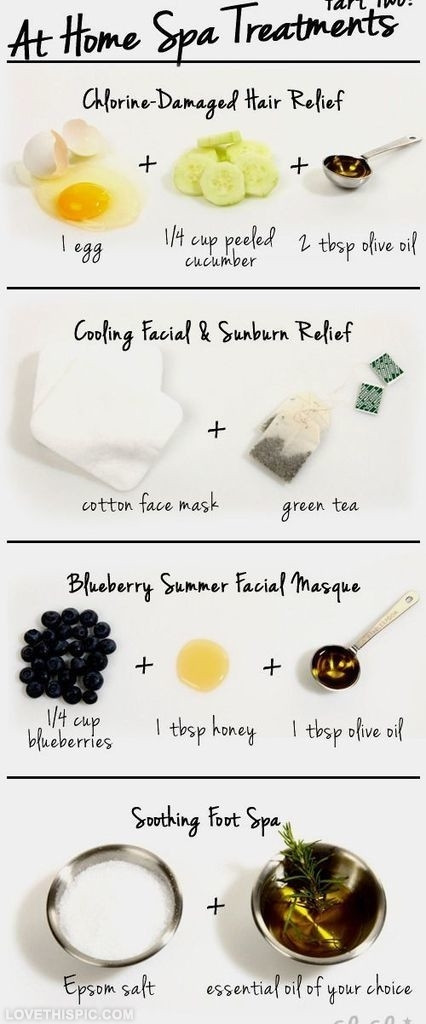 DIY Spa Treatment  DIY Home Spa Treatments s and for