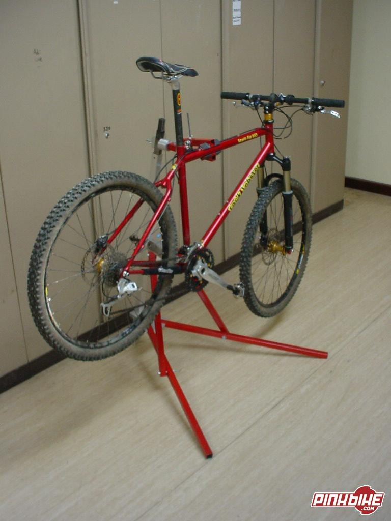 Best ideas about DIY Stationary Bike Stand . Save or Pin Homemade Bike Stand Now.