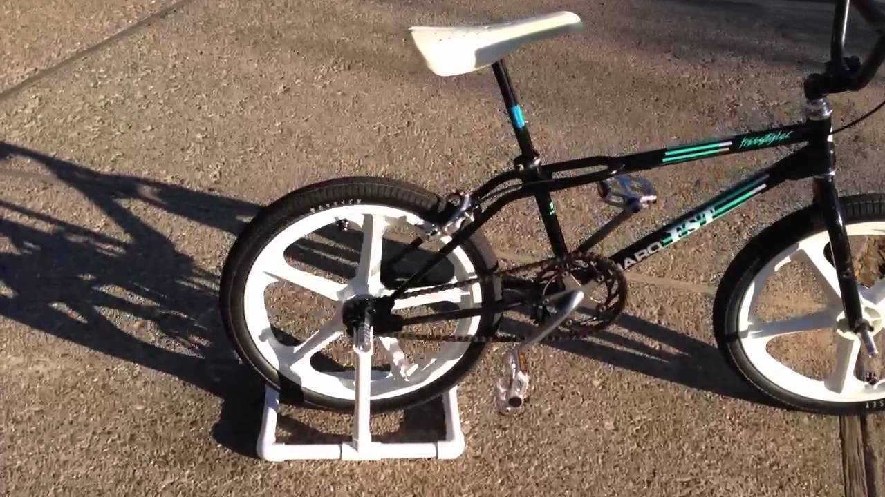 Best ideas about DIY Stationary Bike Stand . Save or Pin CHEAP DIY PVC BIKE STAND in action Now.