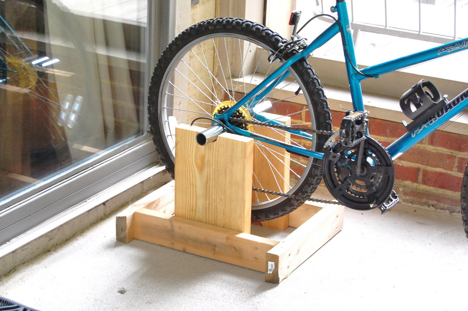 Best ideas about DIY Stationary Bike Stand . Save or Pin Tidy Brown Wren bringing order to your nest How To Make Now.