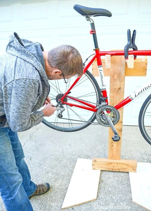 Best ideas about DIY Stationary Bike Stand . Save or Pin Diy Bicycle Stand Picture Scorpion Bike Stand Diy Wood Now.