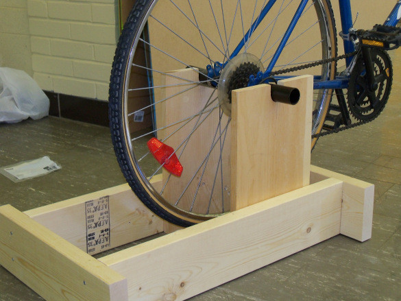 Best ideas about DIY Stationary Bike Stand . Save or Pin DIY Bike Exercise Wooden PDF american woodworker magazine Now.