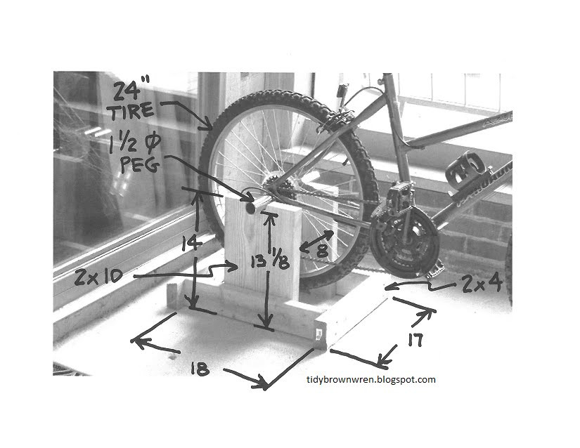 Best ideas about DIY Stationary Bike Stand . Save or Pin Tidy Brown Wren bringing order to your nest Plans For A Now.