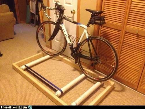 Best ideas about DIY Stationary Bike Stand . Save or Pin DIY bike trainer For the Home Pinterest Now.