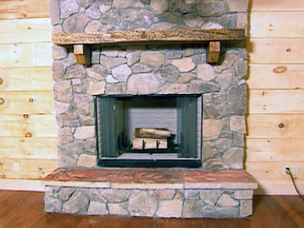 DIY Stone Fireplace  How to Create a Stone Fireplace how tos
