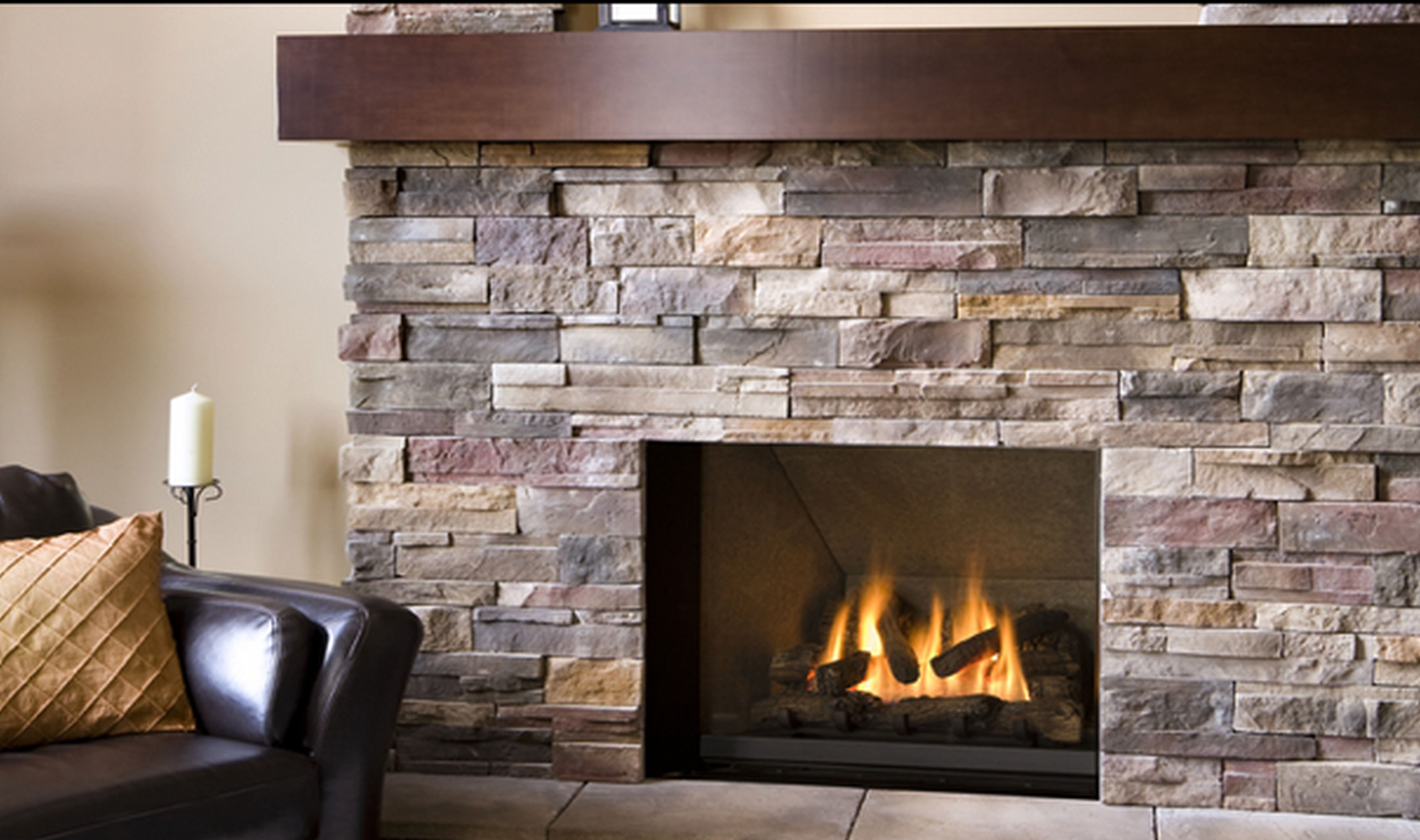DIY Stone Fireplace  5 DIY Home Improvement Projects Using AirStone