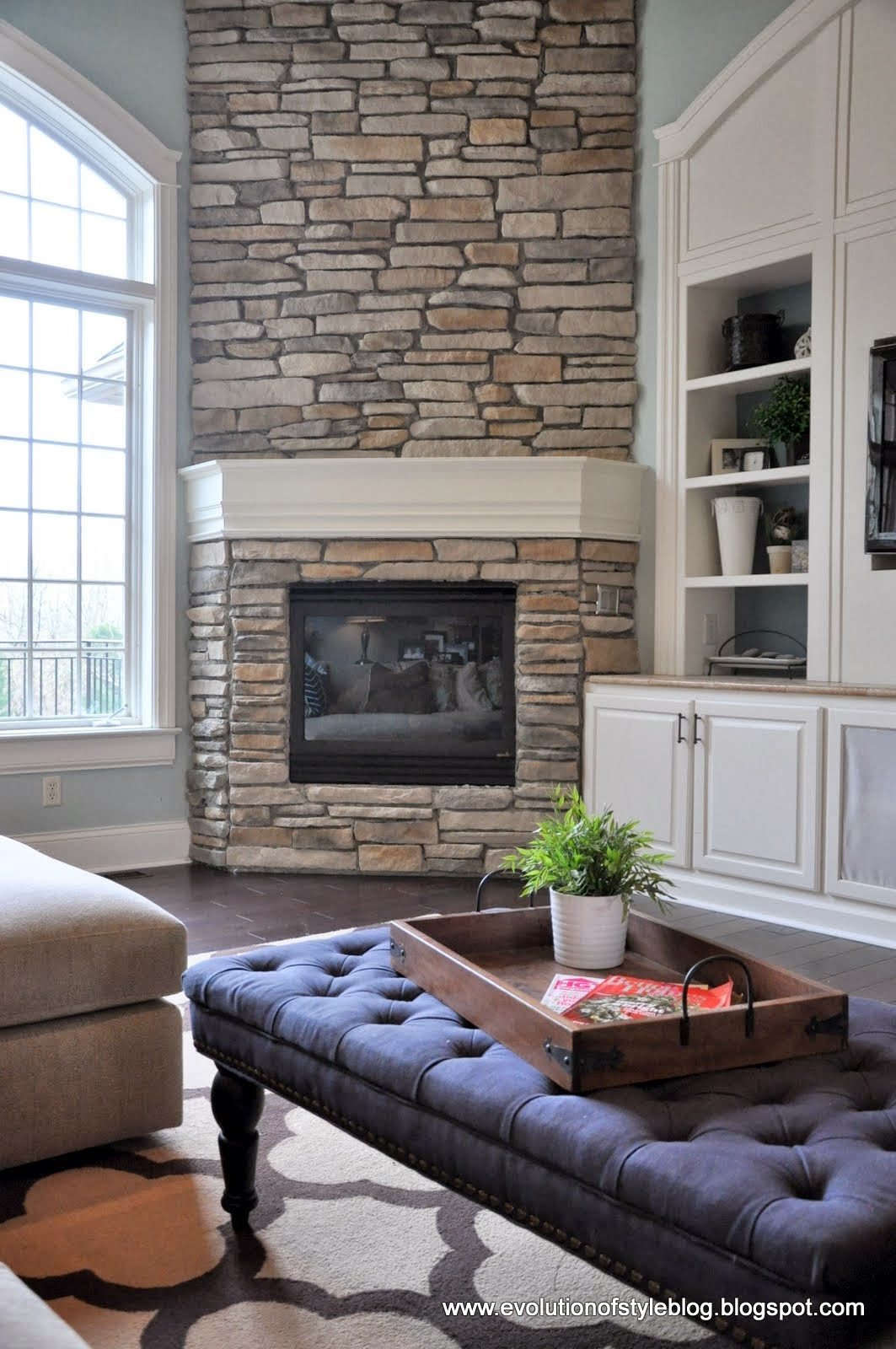 DIY Stone Fireplace  DIY Stone Fireplace Reveal for real Evolution of Style
