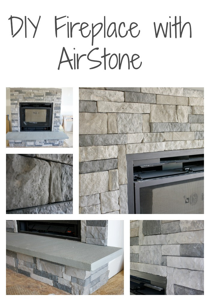 DIY Stone Fireplace  DIY Stone Fireplace with AirStone • Binkies and Briefcases