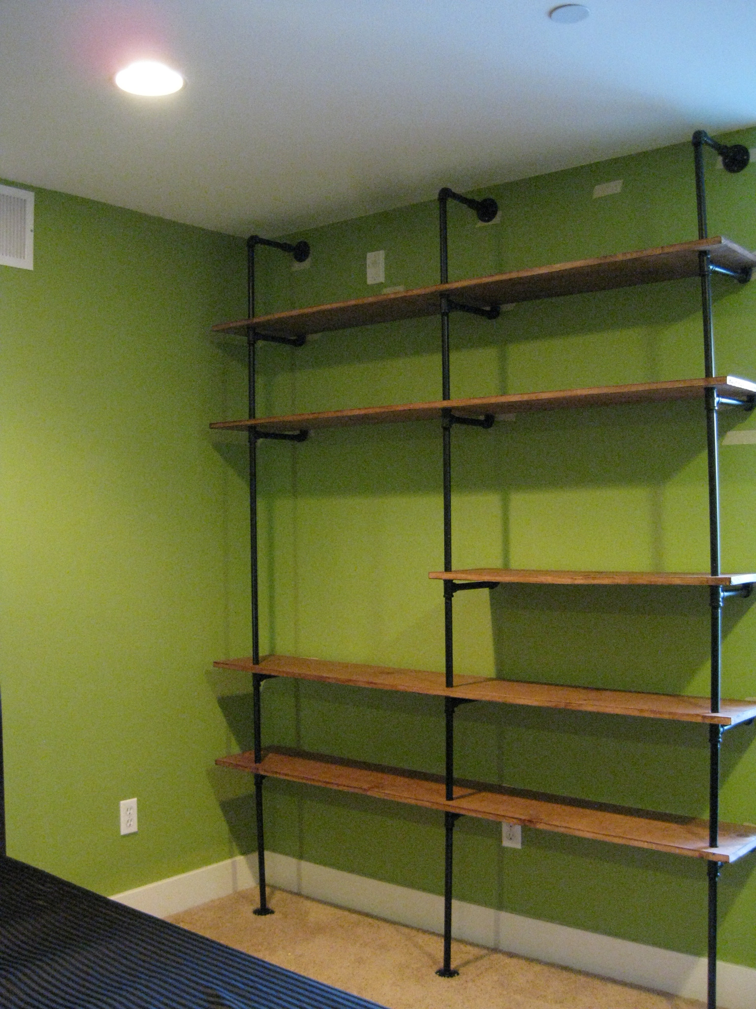 DIY Storage Shelves  DIY Pipe Shelving — the overly detailed tutorial