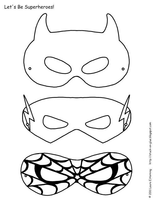 DIY Superhero Mask Template  DIY Superheroe Masks