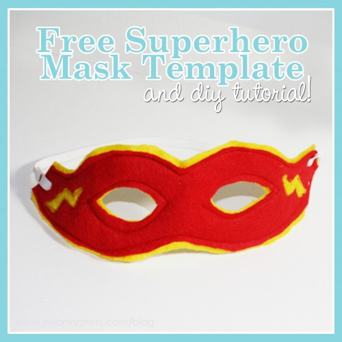 DIY Superhero Mask Template  DIY Tutorial