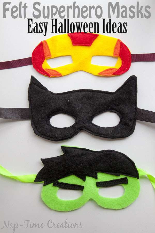 DIY Superhero Mask Template  Adorable Felt Superhero Masks onecreativemommy