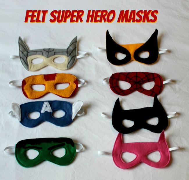 DIY Superhero Mask Template  Felt Superhero Masks Sometimes Homemade