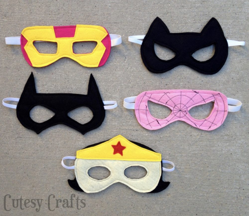 DIY Superhero Mask Template  DIY Superhero Costumes Cutesy Crafts