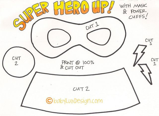 DIY Superhero Mask Template  Super Hero Tutorial
