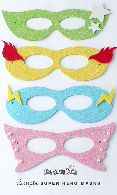 DIY Superhero Mask Template  Simple super hero masks with printable template
