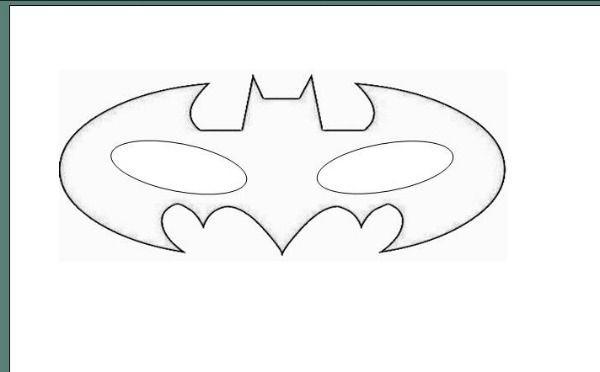 DIY Superhero Mask Template  Batman Free Printable